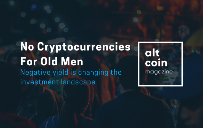 No Cryptocurrencies For Old Men
