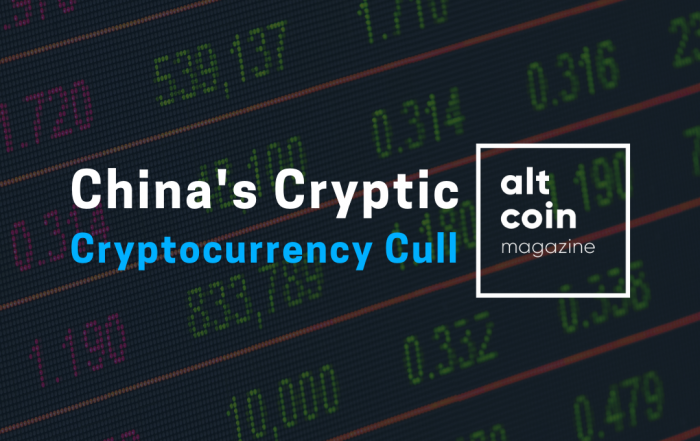 China's Cryptic Cryptocurrency Cull